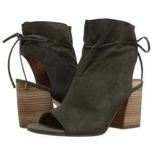 Franco Sarto Fenwick Cyprus Green Peep Toe Heel